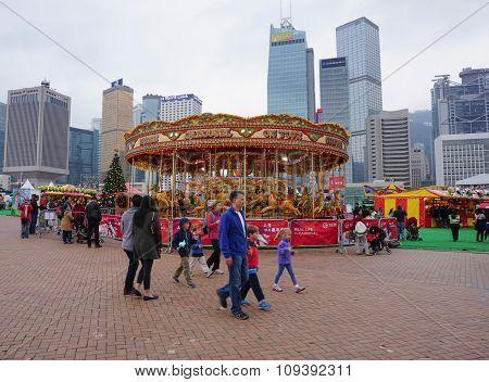Festival Crowd In Victoria Park