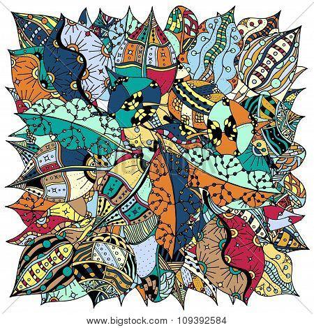 Pattern Of Leaves.
