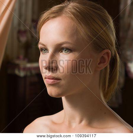 Beautiful Young Woman In Beauty-salon