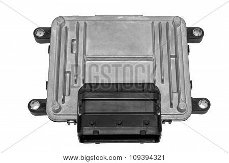 Engine controller on a white background