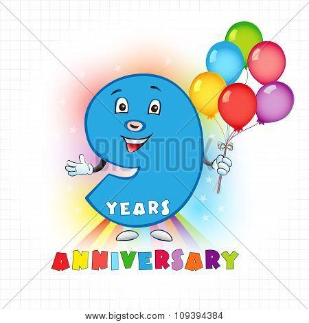 9 anniversary funny logo.