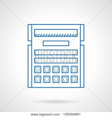 Blue flat line planning vector icon