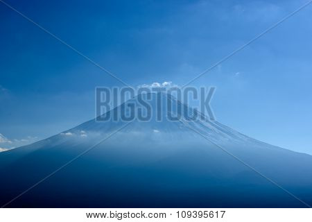 Mount Fuji from Mount Tenjo.