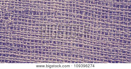 Vintage Toned High Quality Close Up Picture Of Jute Fabric