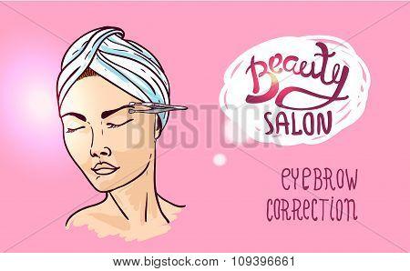 illustration beauty salon