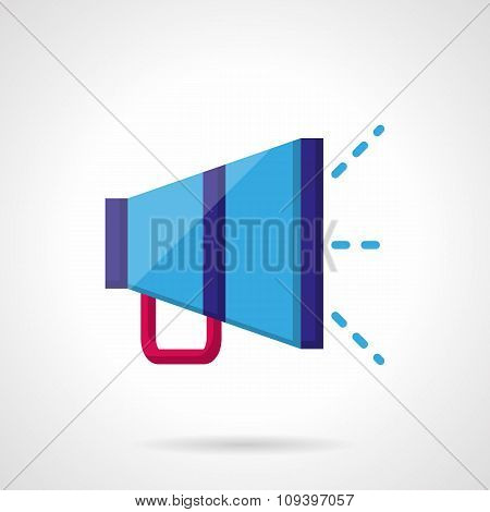 Promotion color vector icon