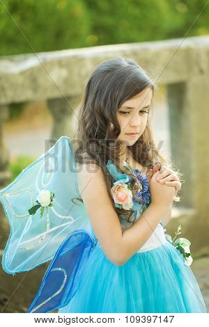 Little Girl Dressed As Fairies