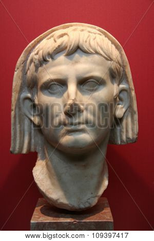 Veiled Head Of Emperor Cesar Augustus