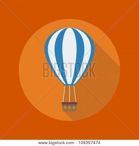 Transportation Flat Icon. Hot Air Balloon