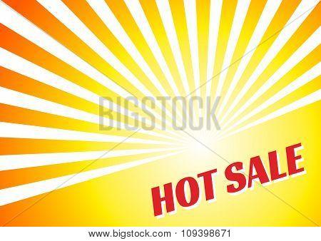 Hot sale banner summer sun yellow orange background
