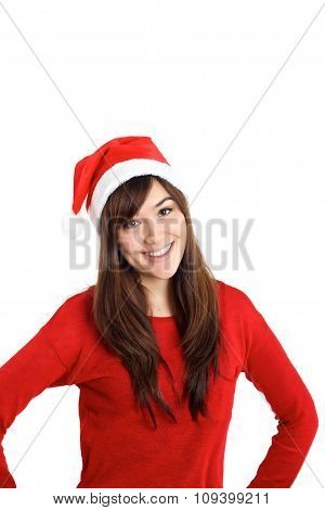 Christmas Santa Claus Girl In Red