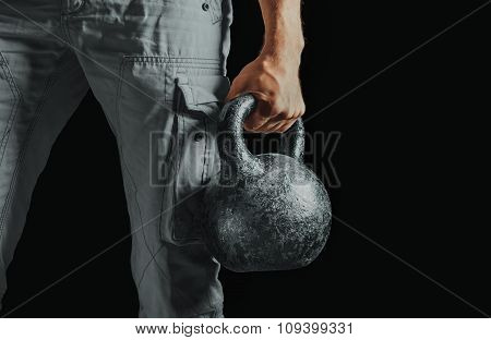 Male Hand With Kettlebell