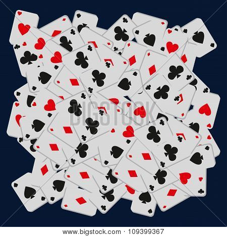 casino flat cards background