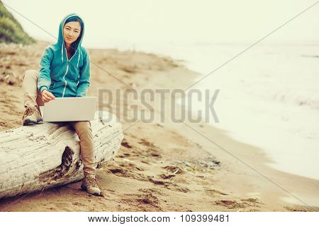 Freelancer Working On Notebook