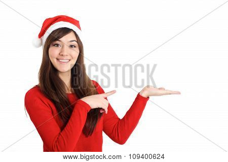 Santa Claus Christmas Woman Pointing Product