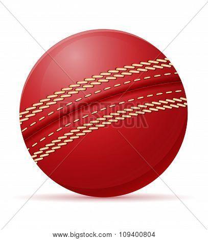 Cricket Ball Vector Illustration