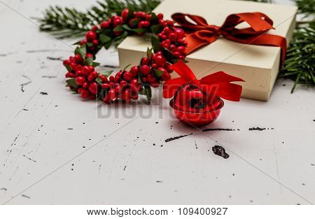 Christmas Gift Box With Decorations