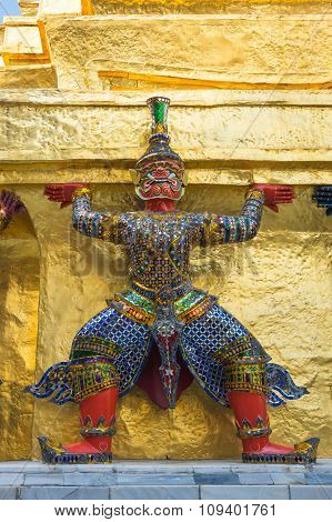 Demon Guardian In Wat Phra Kaeo