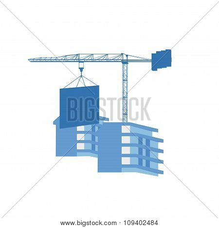 Crane At The Construction Site