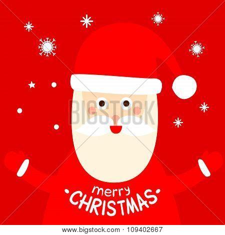 Christmas holiday card with Santa Claus