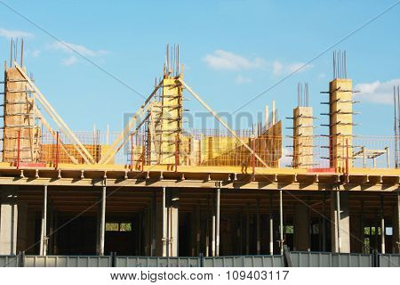 Construction Works In Urban Place