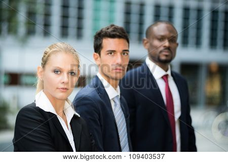 Business people in a modern business environment