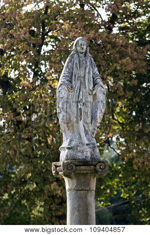 WIELICZKA , POLAND - OCTOBER 8, 2015: Old Wayside shrine in Wieliczka near Cracow. Poland