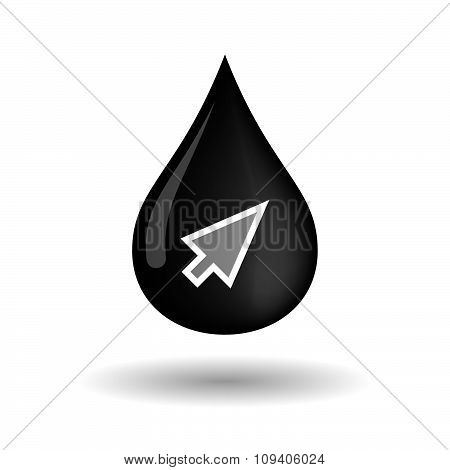 Vector Oil Drop Icon With A Cursor