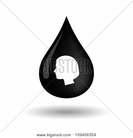 Vector Oil Drop Icon With A Female Head