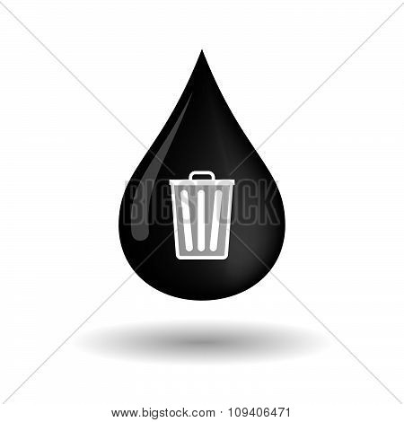 Vector Oil Drop Icon With A Trash Can