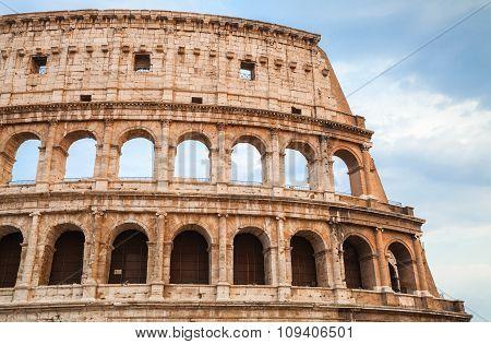 Colosseum Also Known As Flavian Amphitheatre
