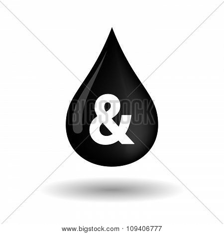 Vector Oil Drop Icon With An Ampersand