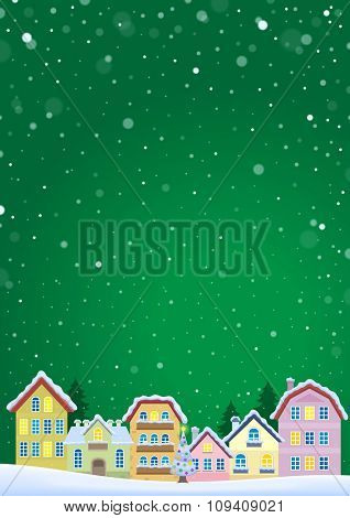 Winter theme with Christmas town image 5 - eps10 vector illustration.