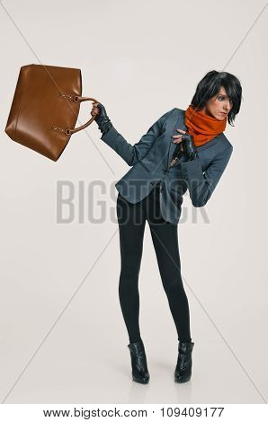 lady with bag