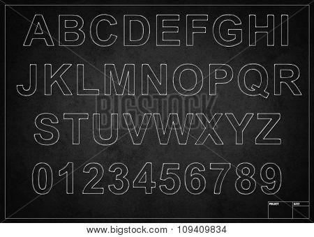 Blackboard With Alphabet Letters