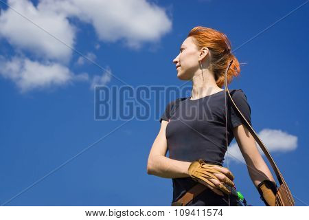 Archery Woman With A Bow