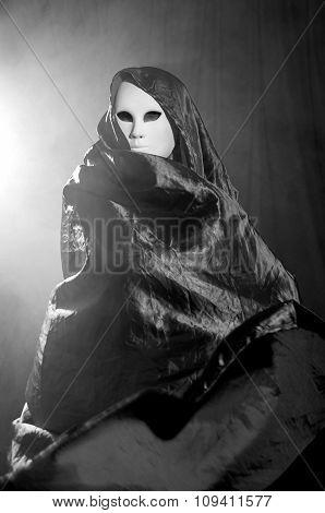 Man Whit A Venetian Carnival Mask 7