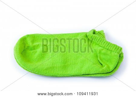 green socks isolated on a white background