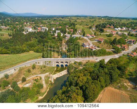 Tounj bridge in the counrtyside of Croatia