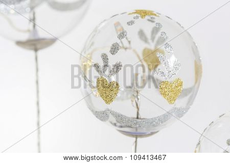 Christmas Balls, Traditional Decorations For Xtmas Tree, White