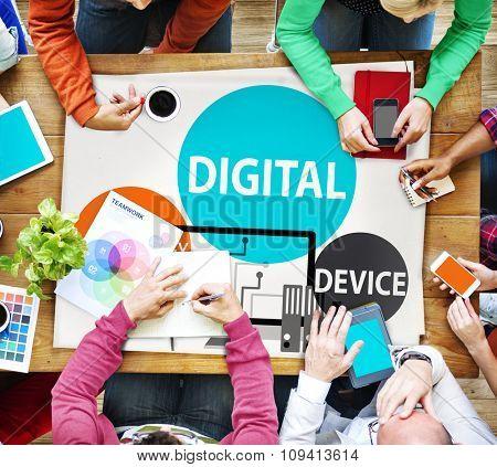 Digital Device Technology Internet Computer Connect Concept