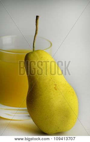 Yellow Fresh Pear And Juice