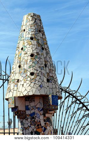 Mosaics Of Antonio Gaudi Palau Guell