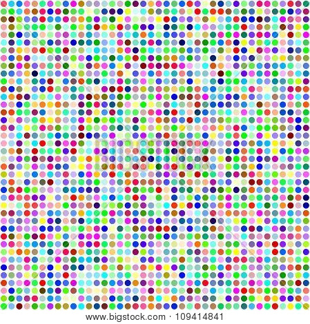 Multicolor circle pixel mosaic background