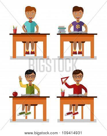 school kids set