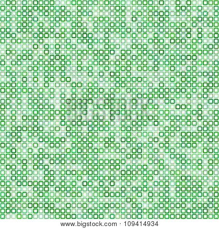 Green square pixel mosaic background