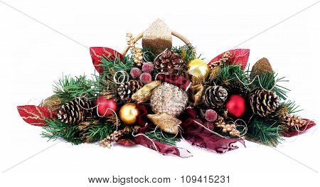 Composition of the Christmas decorations