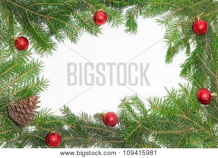 Frame Of Fir Branches