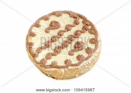 Sponge Cake On A Light Background