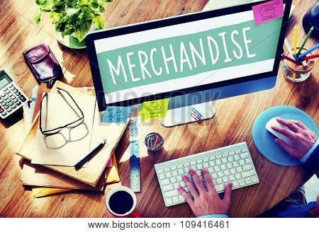 Merchandise Marketing Commercial Shopping Retail Concept